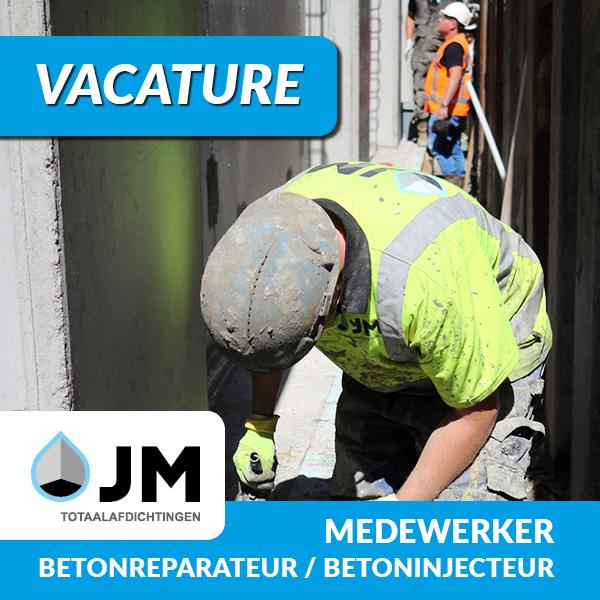 vacature voor betonreparateur betoninjecteur is een van de vacatures bij JM totaalafdichtingen